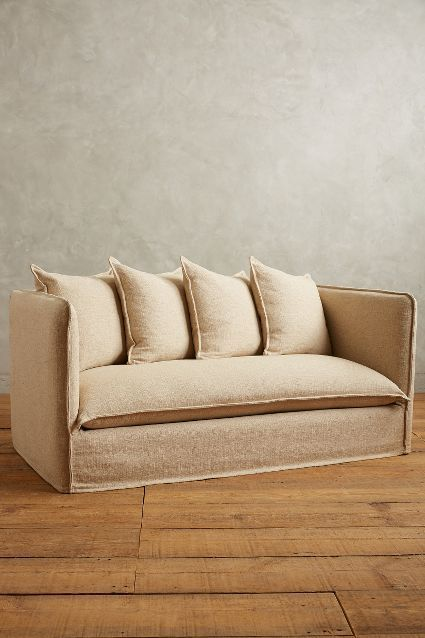 Linen Carlier Settee Anthrofave Chairs Amp Sofas Sofa
