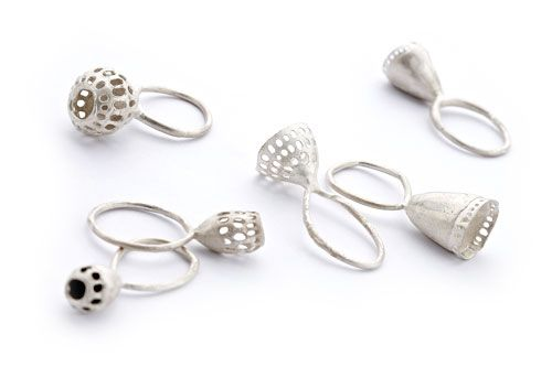 Anna Vlahos Rings: Basi, 2012 Sterling Silver 3.4 x 1.1 cm approx.