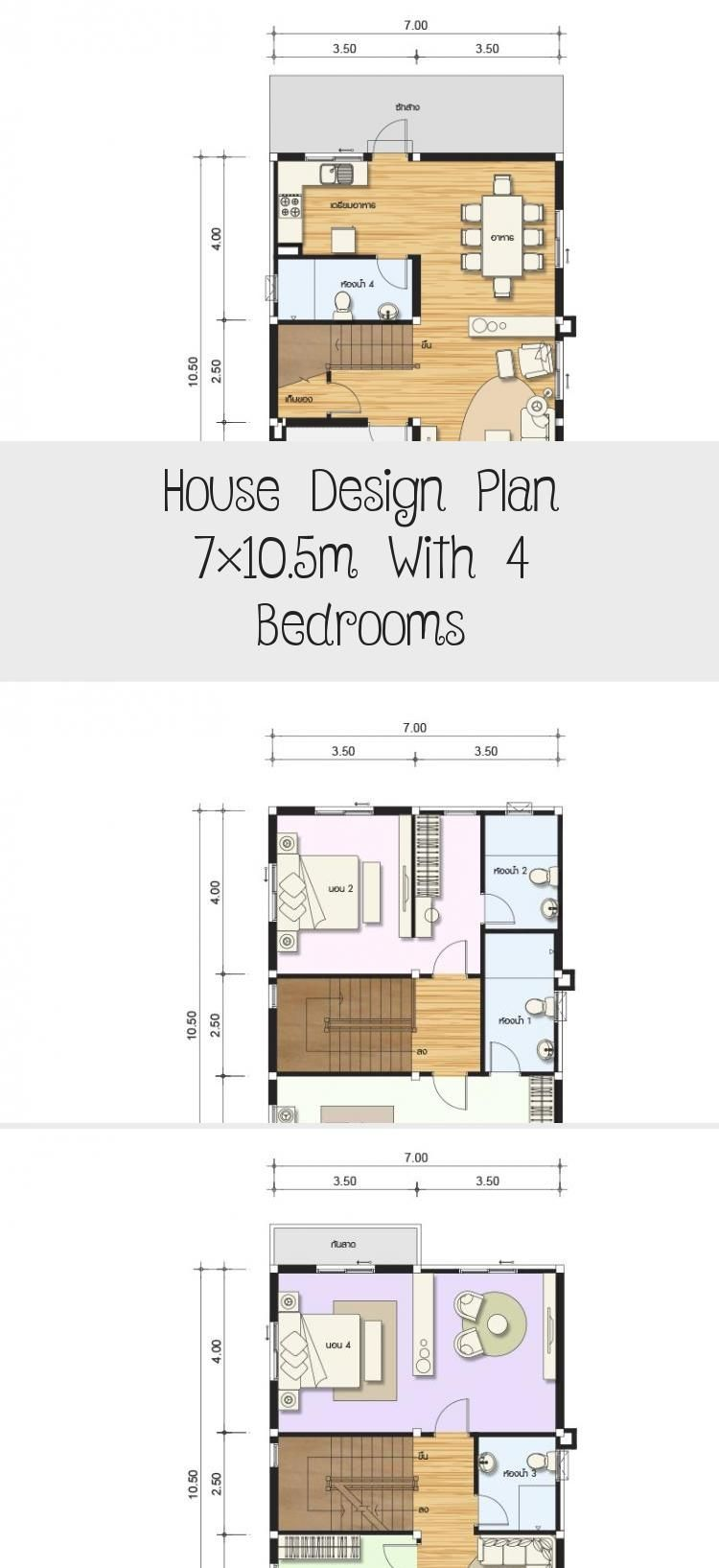 House Design Plan 7x10 5m With 4 Bedrooms Home Design With Plansearch Housedesignideas Lakehousedesi In 2020 Ranch House Designs Home Design Plan Home Design Plans