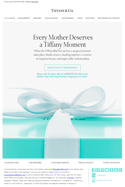 d400b5326 Tiffany & Co. Mother's Day email 2014 | Email - Holiday/Mother's Day ...