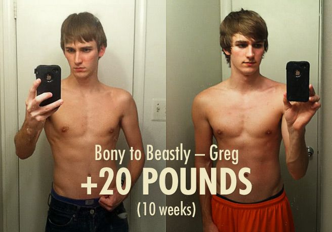 Greg's 20 Pound Skinny Guy Transformation | transformation