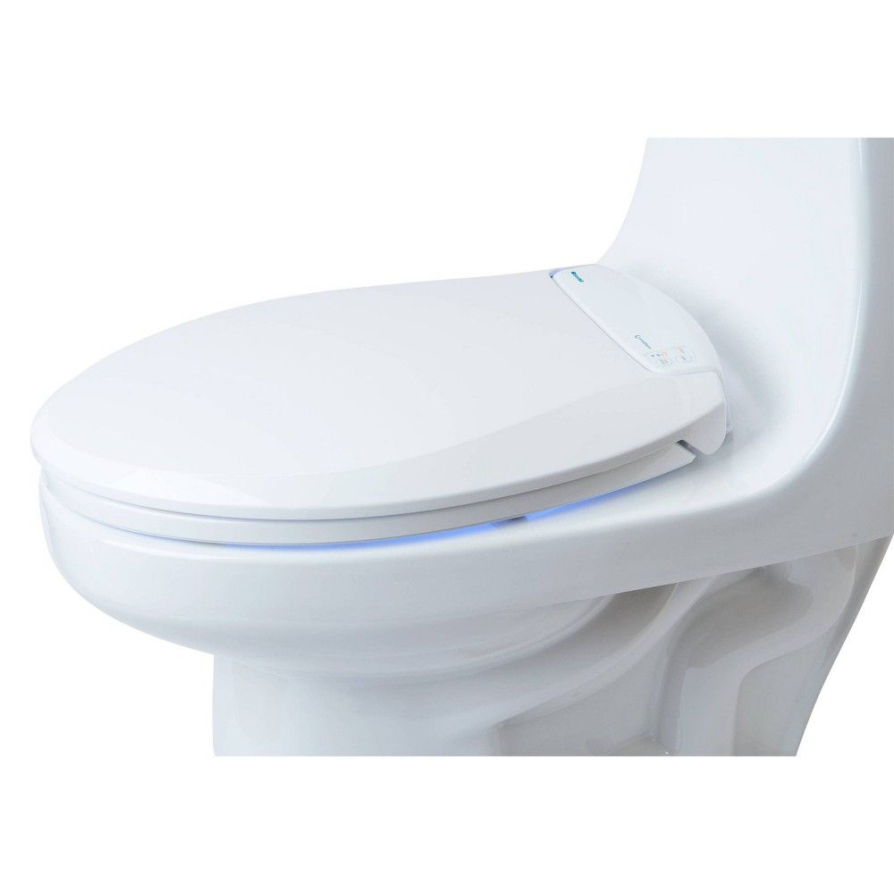 Lumawarm Heated Nightlight Round Toilet Seat White Brondell