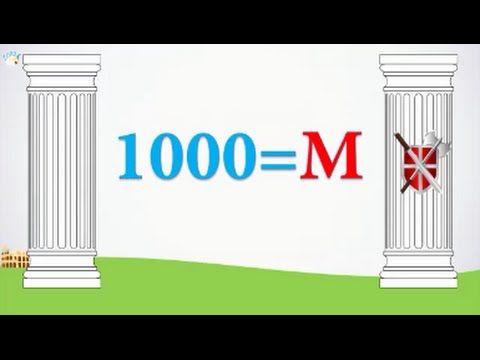 Números Romanos Del 1 Al 1000 Números Romanos Para Niños Romanos