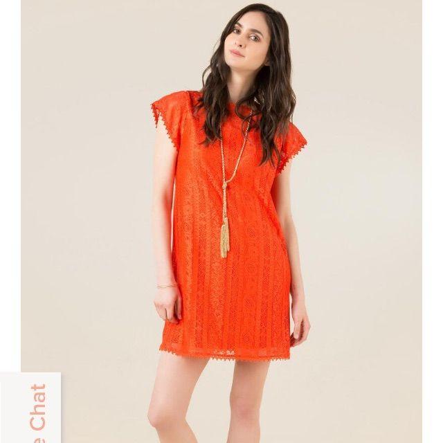 904eaa2476f0 Orange Francesca'S Shift Dress | Products | Dresses, Cute lace ...