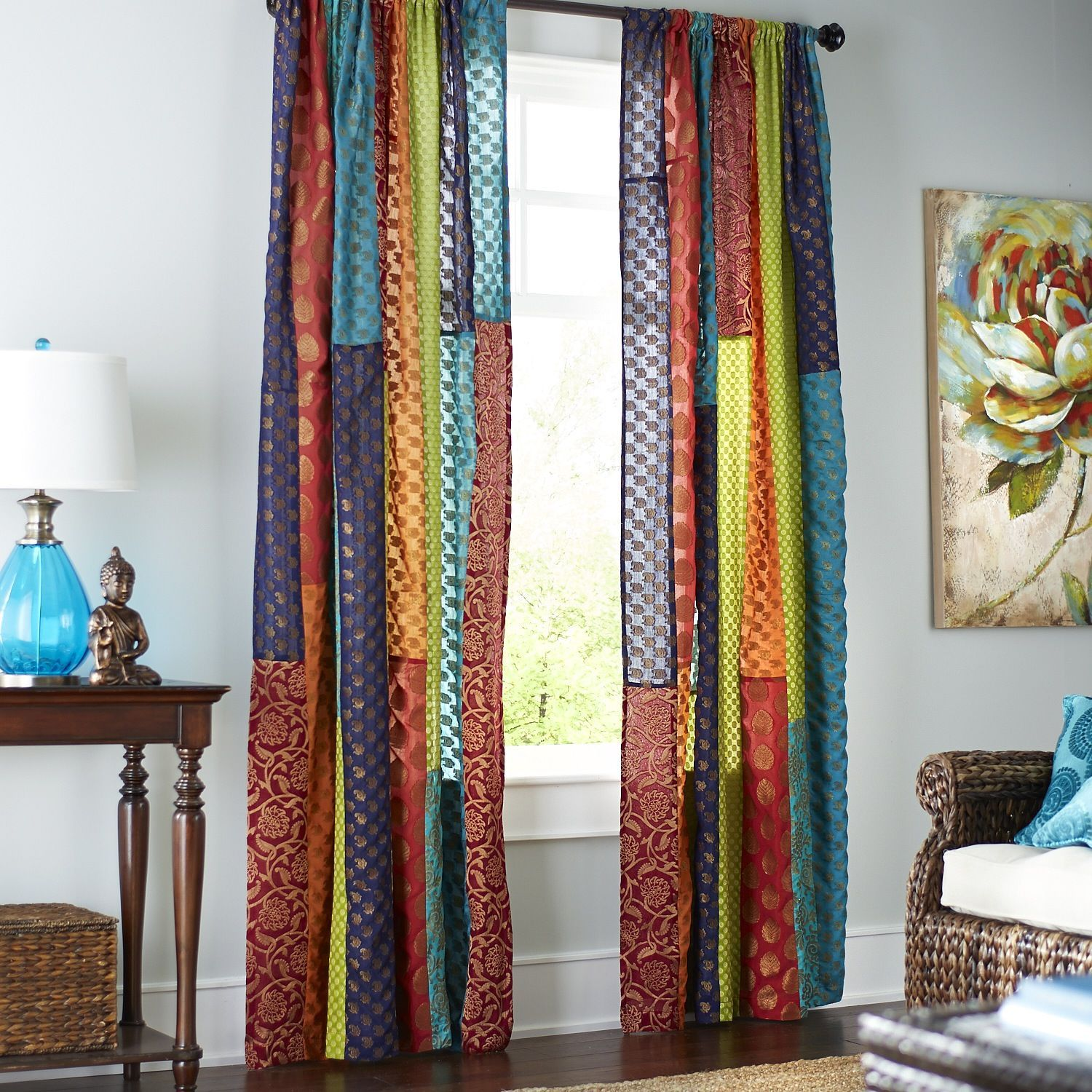 sari patchwork curtain pier 1 imports new house. Black Bedroom Furniture Sets. Home Design Ideas