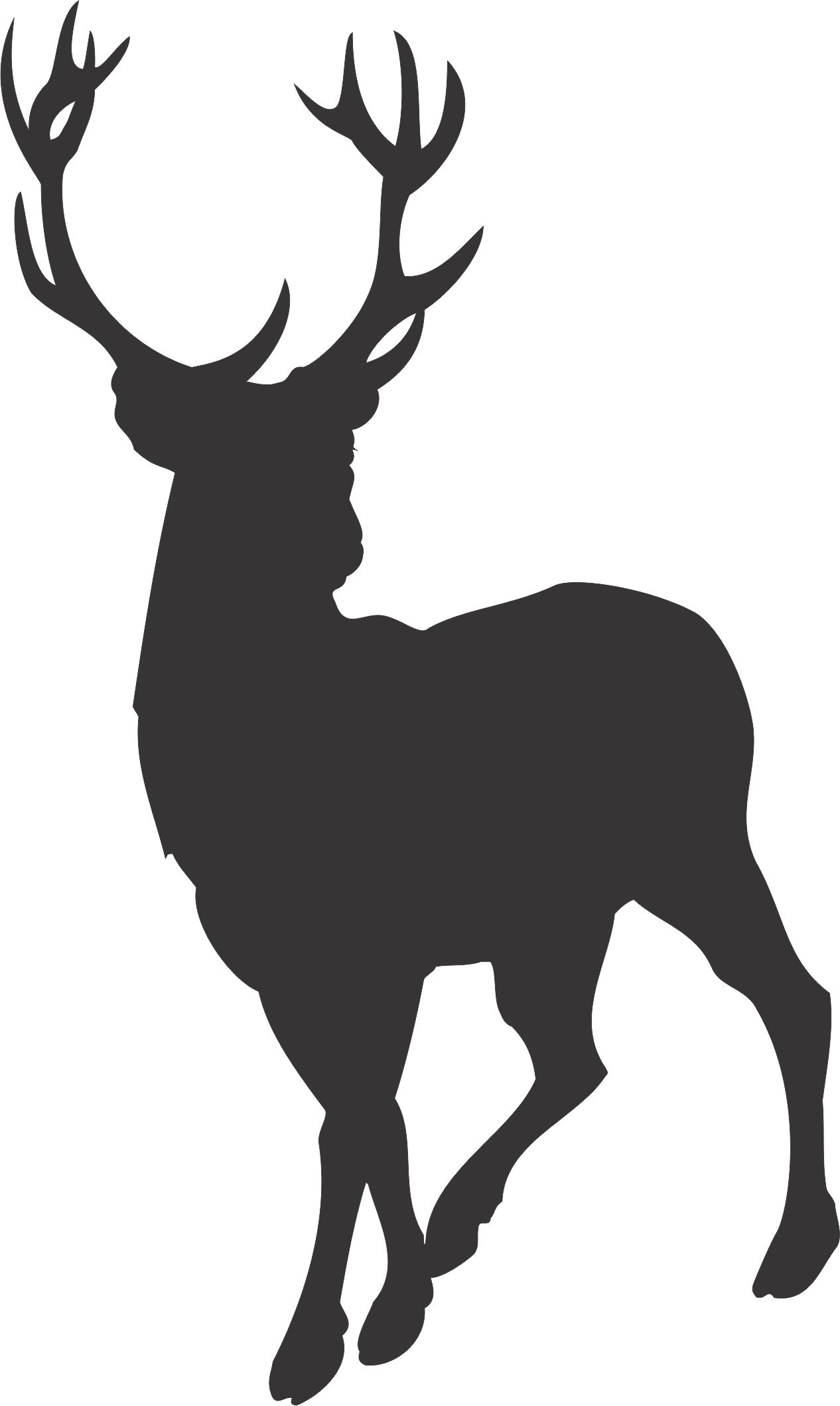 Free download Stag Silhouette Clipart for your creation