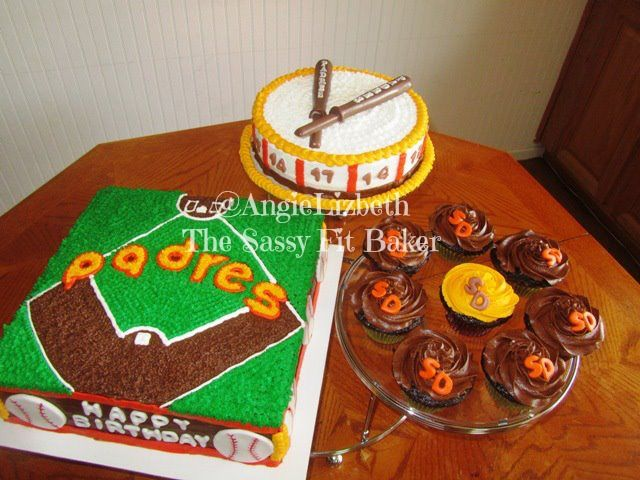 Enjoyable San Diego Padres Cake For A Big Time Fan Birthday Cake Chocolate Personalised Birthday Cards Veneteletsinfo