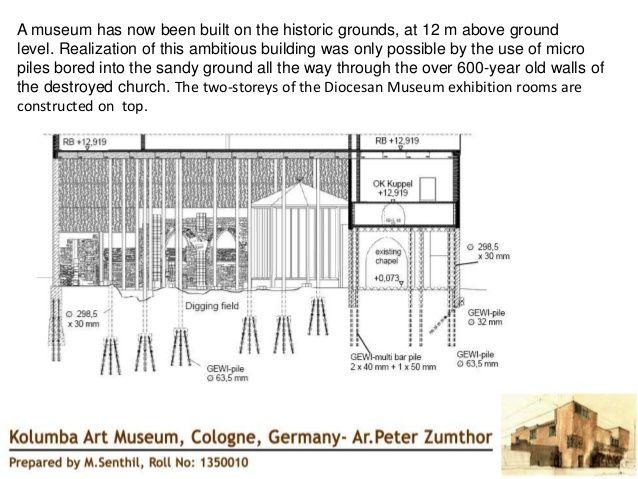 afbeeldingsresultaat voor peter zumthor kolumba museum construction