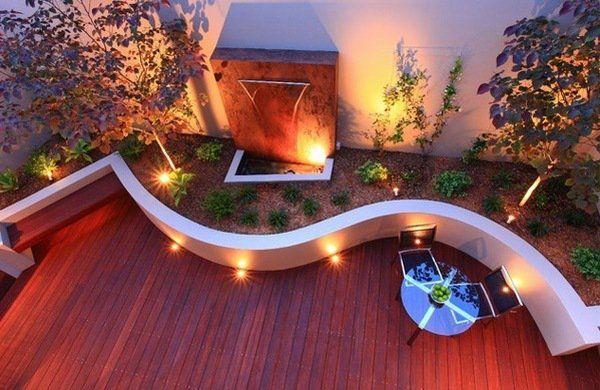Divine Renovations Decks #Deck #Lighting #Curvy #Wall