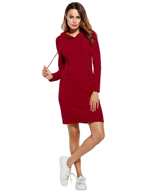 Women S Pencil Hoodie Dress Fashion Long Sleeve Slim Bodycon Sweatshirt Red Ce186l0286d Hoodie Dress Fashion Clothes Women Fashion [ 1500 x 1154 Pixel ]