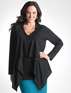 75bdfe517db Plus Size Striped Knit Overpiece. Super cute with a skinny jeans and a pair  of boots.