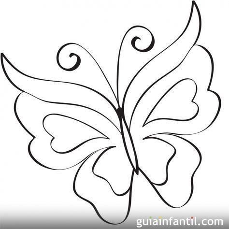 Mariposa para imprimir | Rock painting and Stenciling