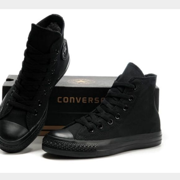 a610fbdee81a38 All black converse high tops WOMENS 7 MENS 5 Great Used condition. No real