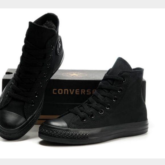 all black converse mens