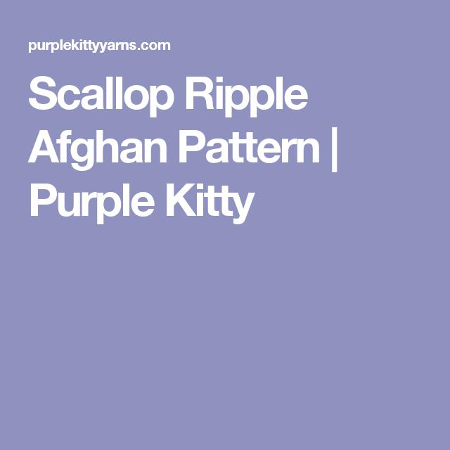 Scallop Ripple Afghan Pattern | Purple Kitty | Crochet blanket ...