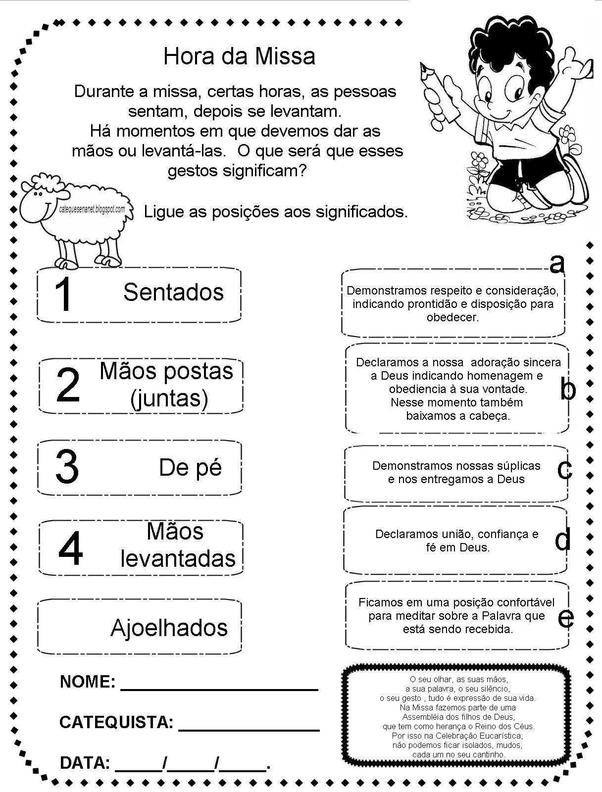 Excepcional lembrança crianças catequese - Pesquisa Google | atividade de  AV51