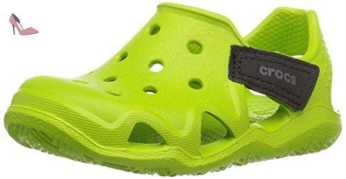 Crocs 204021, Zapatos de Cordones Oxford Unisex Niños, Azul (Ocean), 34/35 EU