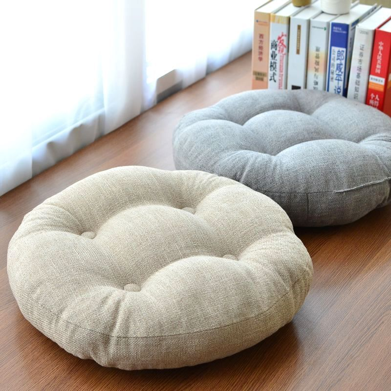 Linen Thickening Circle Large Fabric Floor Japanese Style Balcony