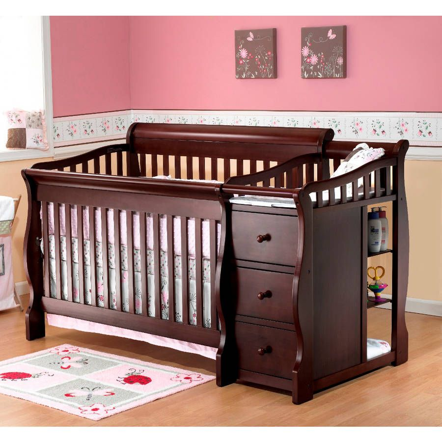 Elegant Sorelle Tuscany 4 In 1 Convertible Fixed Side Crib And Changing Table Combo