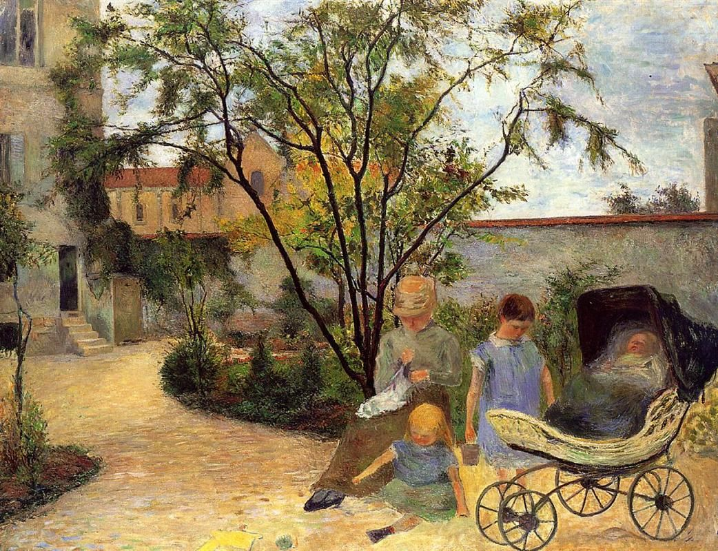 Garden In Rue Carcel (1883)