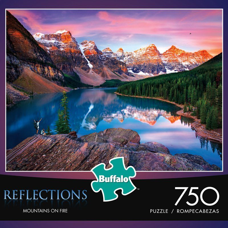 Reflections Mountains On Fire 750 Piece Jigsaw Puzzle Buffalo Games Jigsaw Puzzles Puzzle