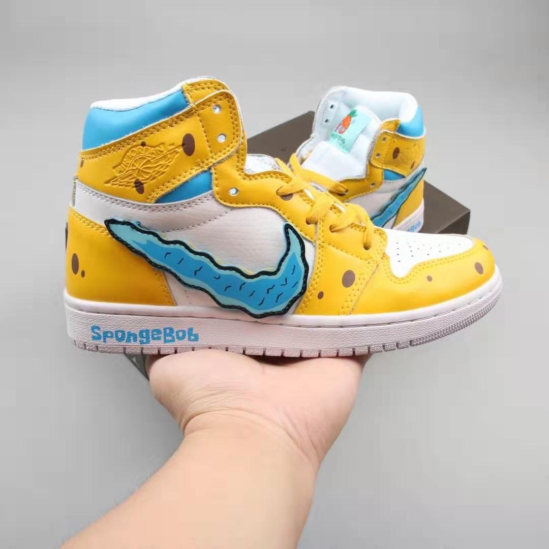 Custom Air Jordan 1 SpongeBob