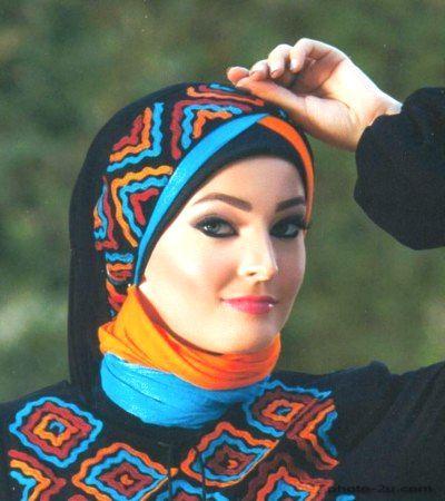 لفات حجاب بالصور طريقة اجمل لفات الحجاب Head And Neck Veil Head Covering