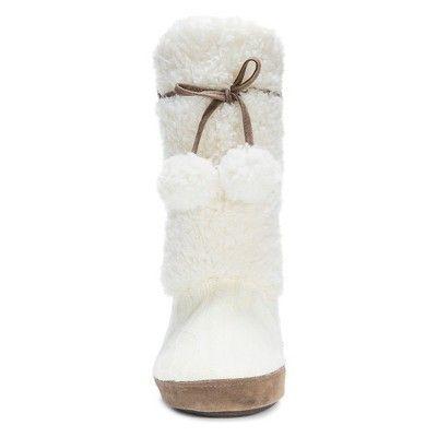 ad45d3555fd6 Women s Muk Luks Jewel Sweater Knit Slipper Boots - Ivory XL(11-12 ...