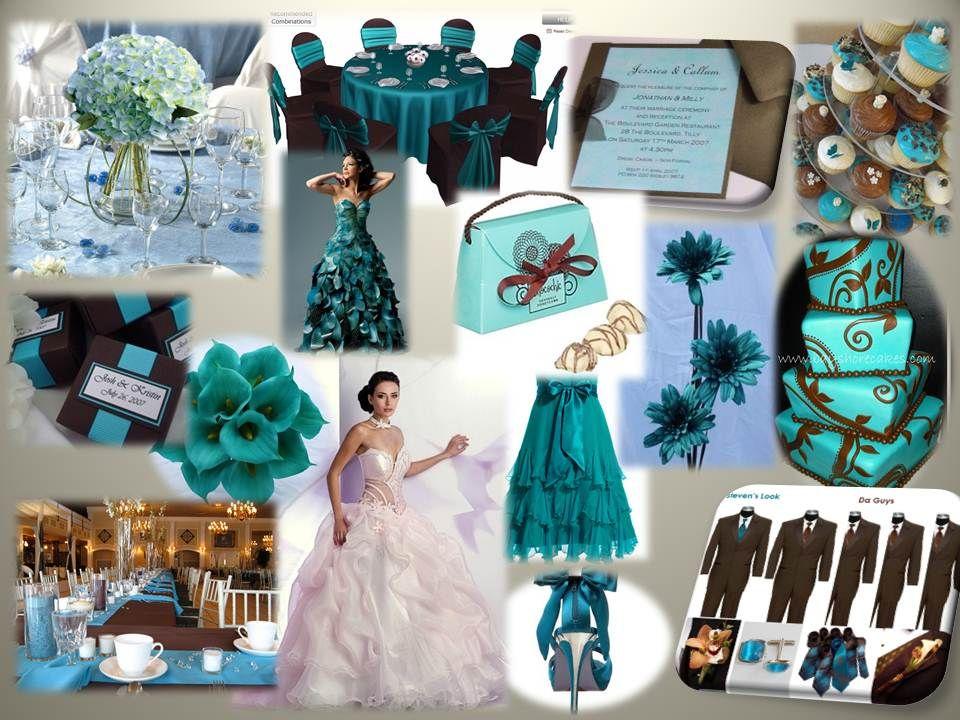 Chocolate And Teal Wedding Reception: Chocolate & Teal Wedding Theme