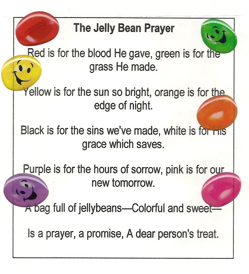Black And White Jelly Bean Prayer Cross Template Easter Sunday