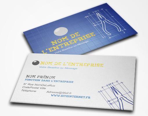 Cartes De Visite Recto Verso 5 Pour Electricien Voir Exemples