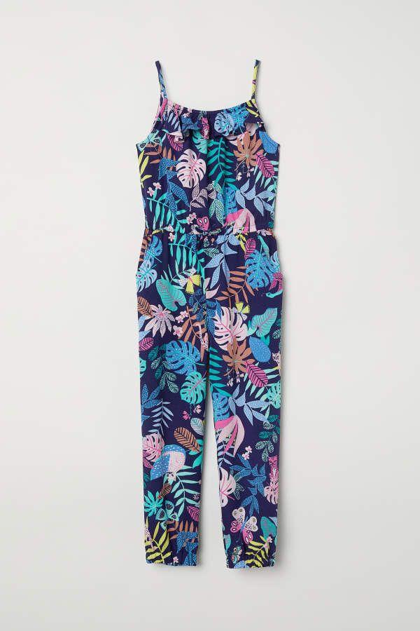 c5fc8af99e2 H M H   M - Patterned Jumpsuit - Dark blue patterned - Kids ...