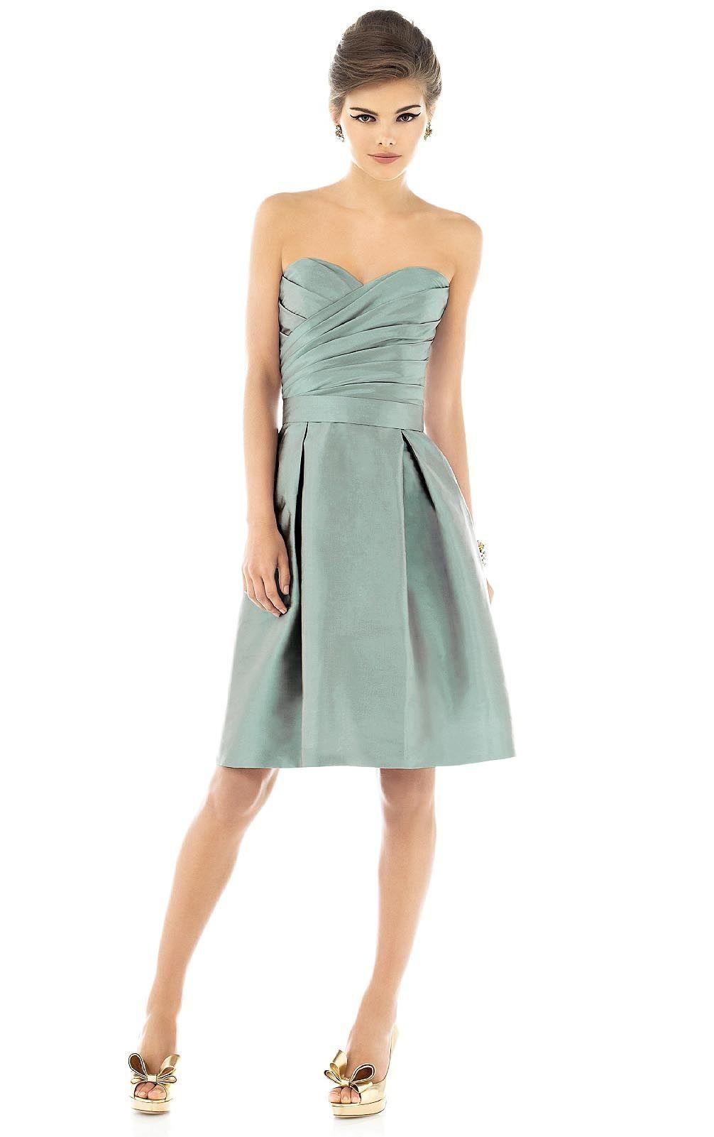 Knee length satin zipper sleeveless sweetheart bridesmaid dresses knee length satin zipper sleeveless sweetheart bridesmaid dresses ombrellifo Choice Image