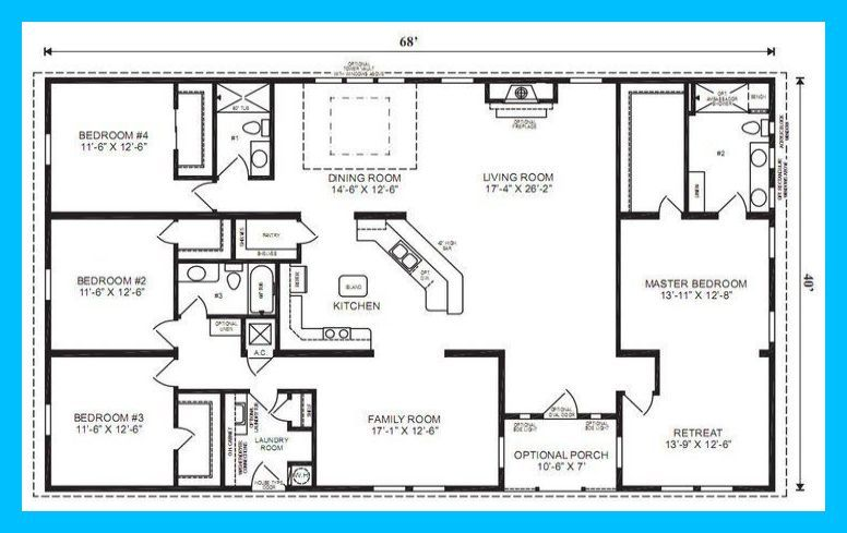 10 Gorgeous Ranch House Plans Ideas House Layouts 4 Bedroom Living Room Layout Large Li Basement House Plans Garage House Plans Craftsman House Plans