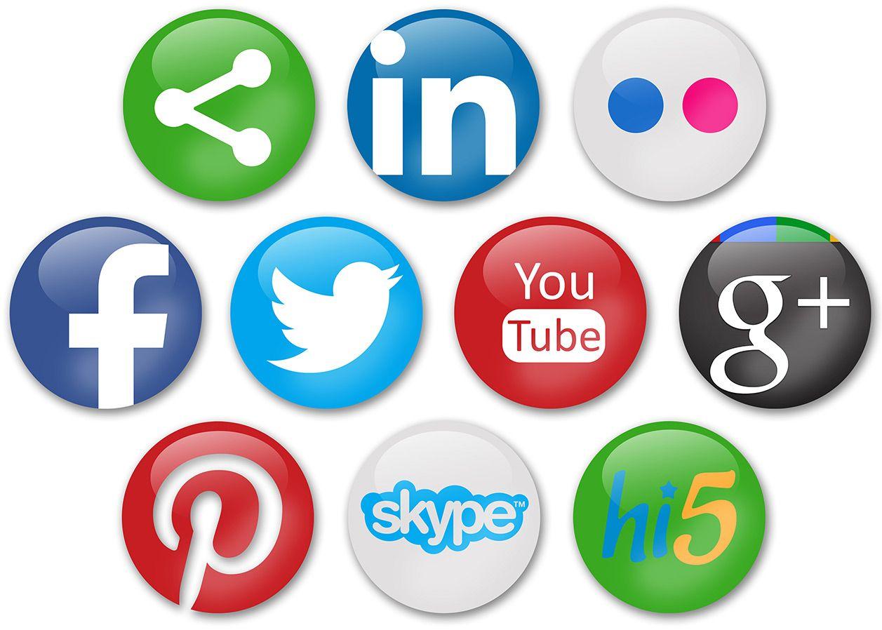Redes Sociais O Bom e o mal delas Ícones de mídia