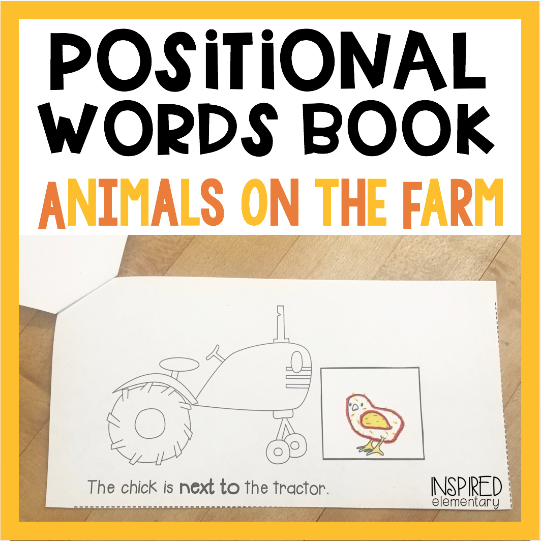 Positional Words Books Animals On The Farm