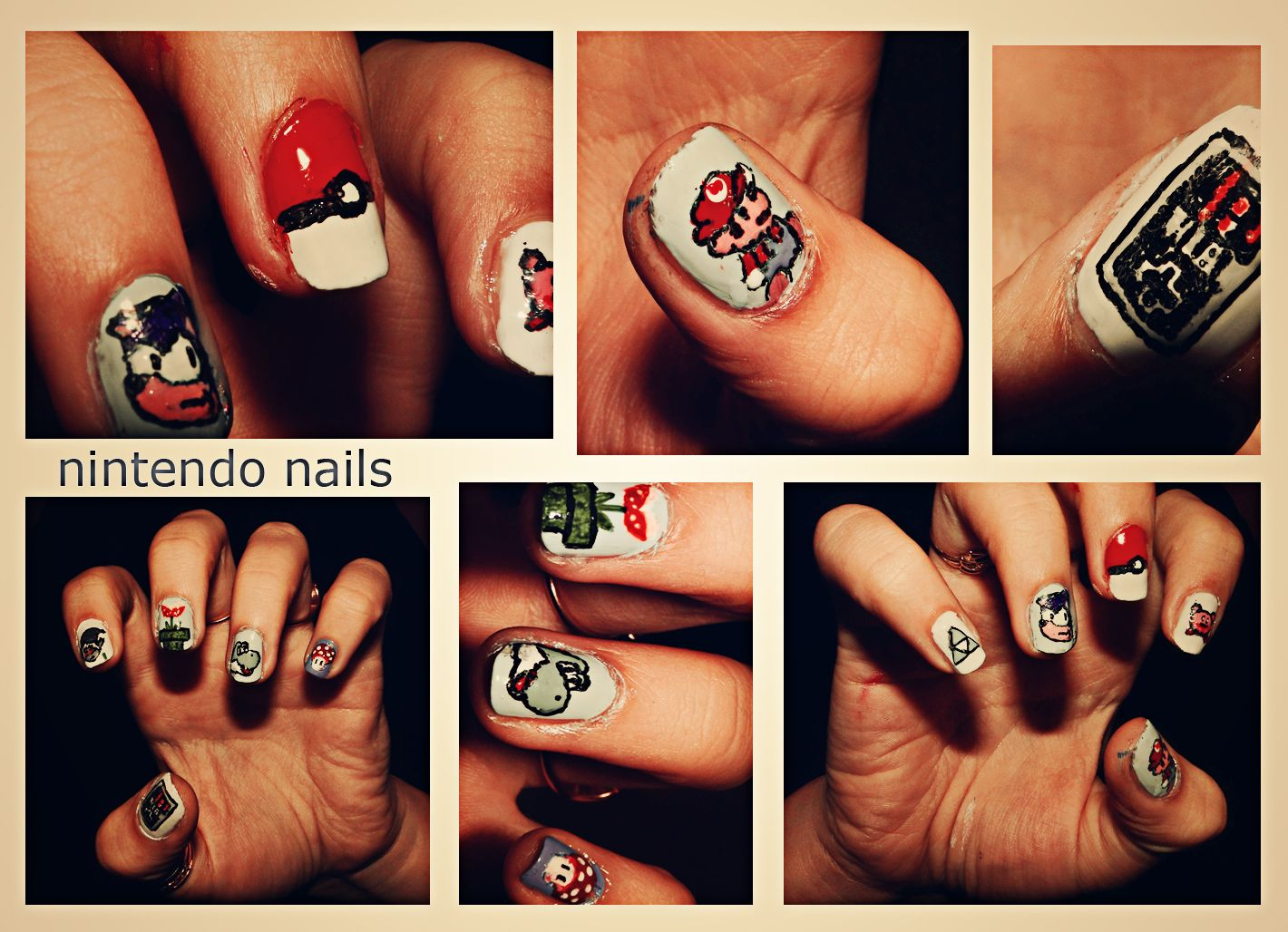 I swear I saw Sonic on a nail but whatever. Nintendo nails   Nail ...