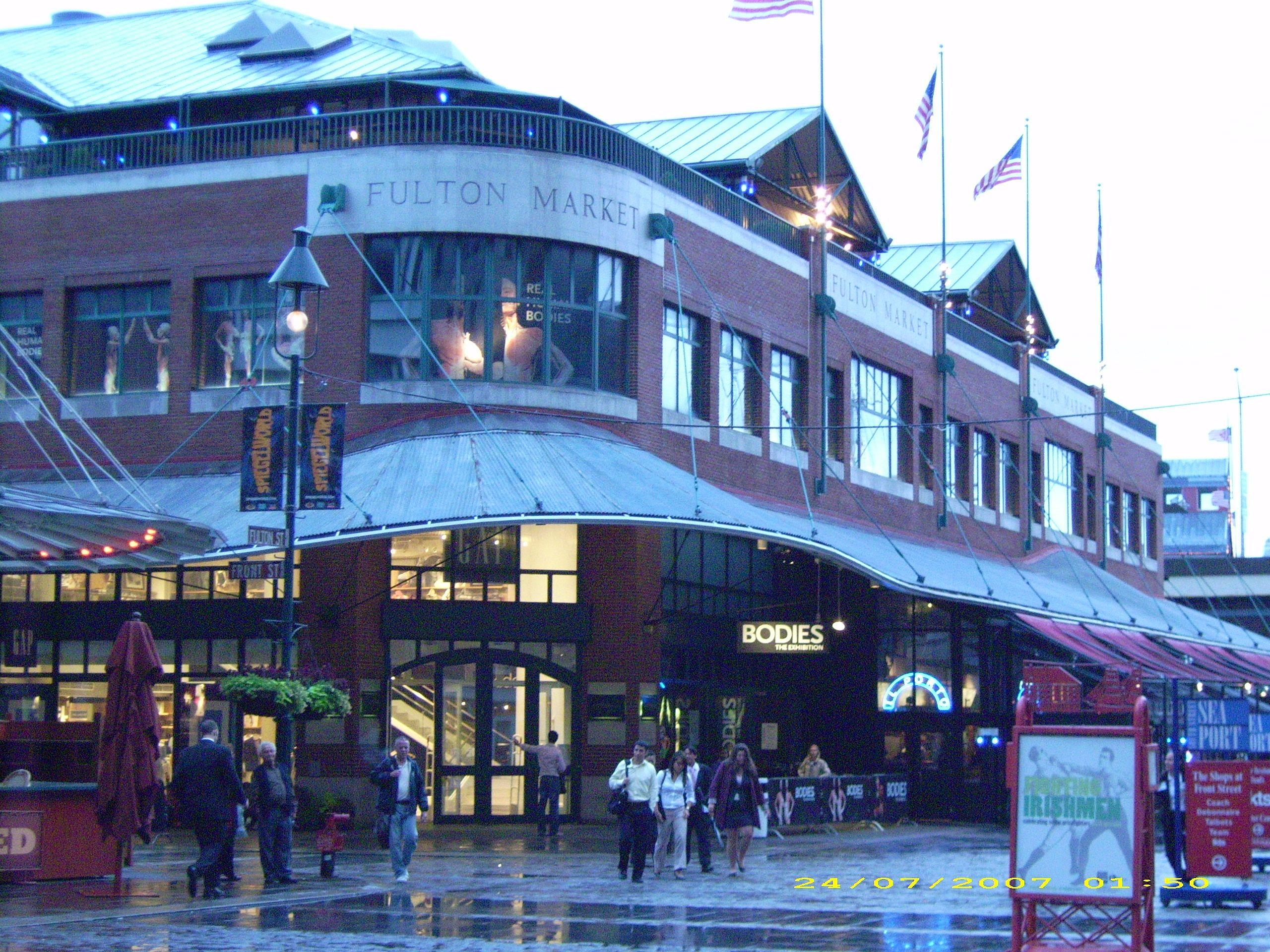 Fulton Market, NYC   I love New York!   New york city, Fulton market