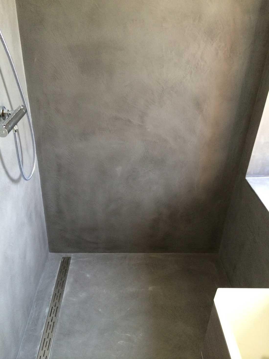 Gestucte badkamers betonlook beal mortex | Badkamer | Pinterest ...