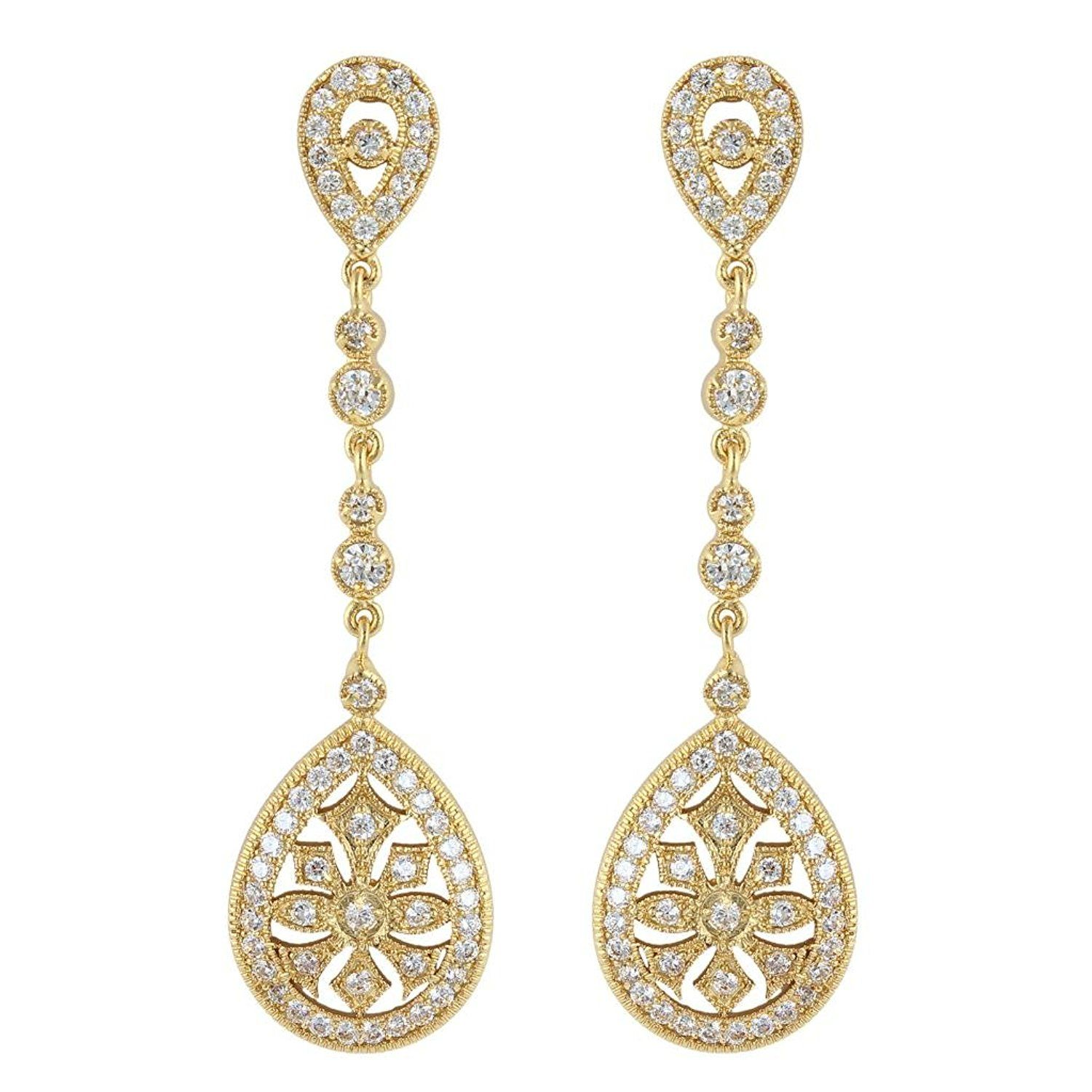 Ever faith art deco classical gatsby inspired pave cubic zirconia ever faith art deco classical gatsby inspired pave cubic zirconia chandelier earrings gold tone arubaitofo Images