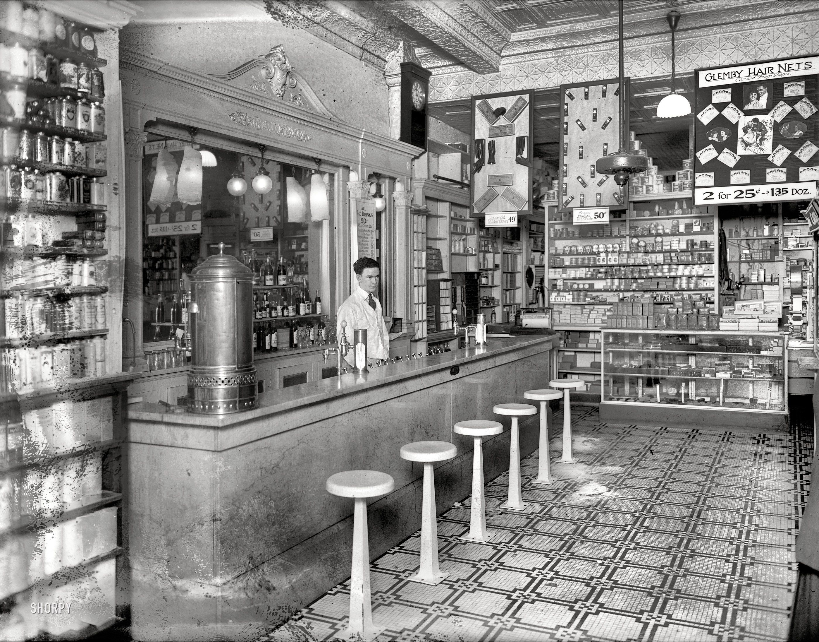 Washington DC Circa 1920 Peoples Drug Store 14th U Streets