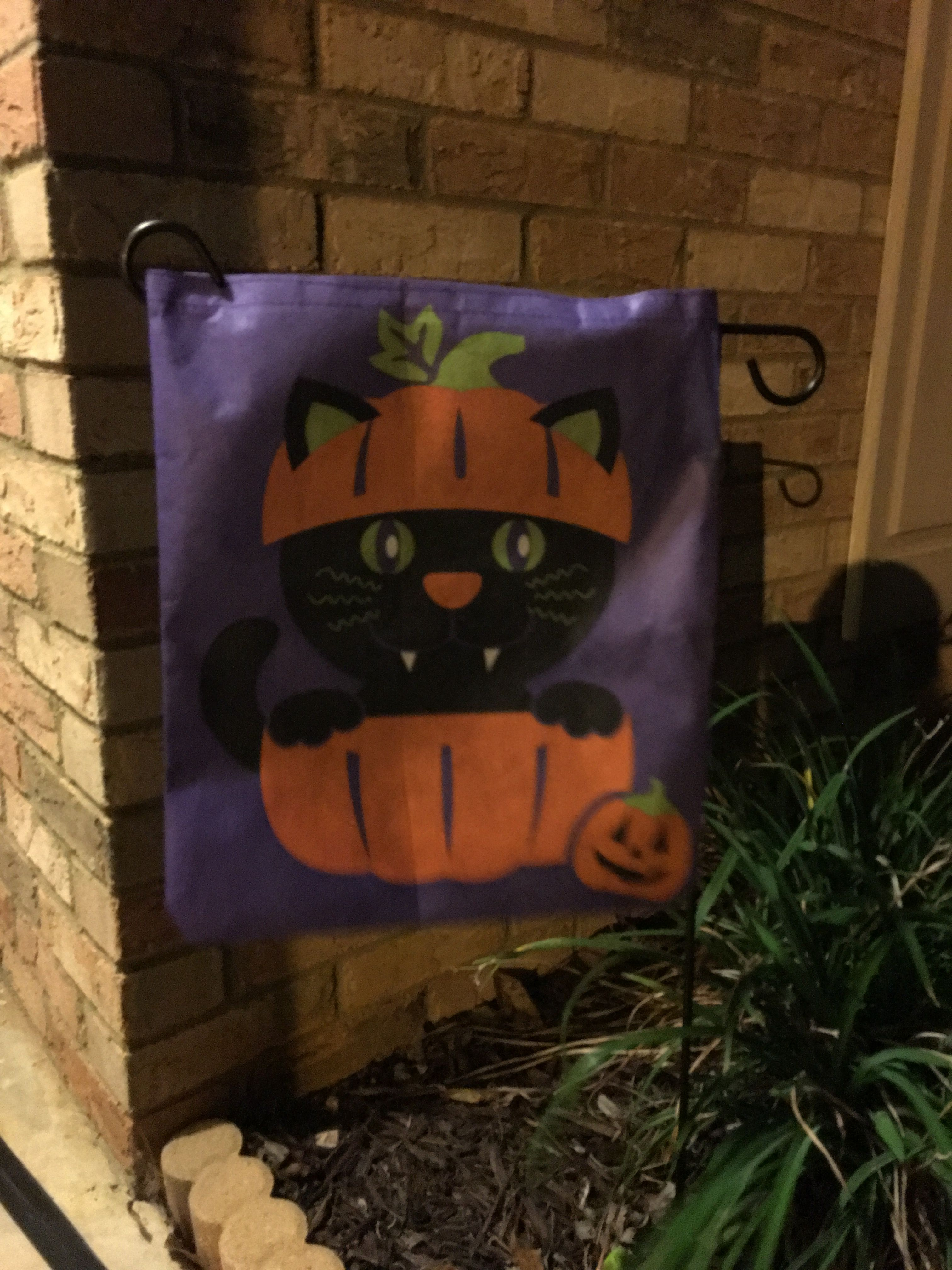 1 Trick Or Treat Bag From Dollar General Turned Into Garden Flag