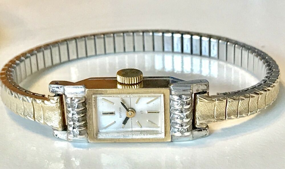 Vintage Ladies Baylor Swiss 10k Gold Filled Watch With Diamonds Ebay Vintage Watches Women Vintage Ladies Women Wrist Watch