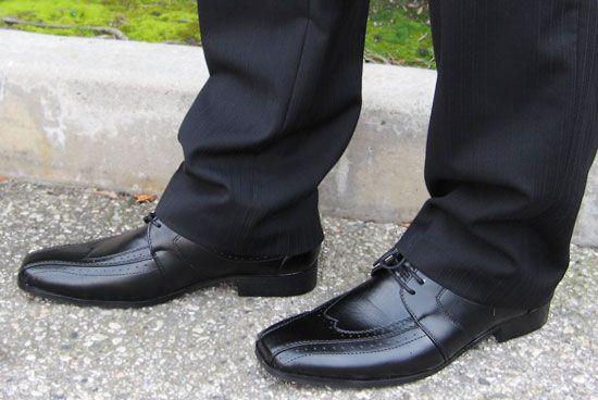 Kyle Black Men's Non Leather Dress Shoes (vegan)