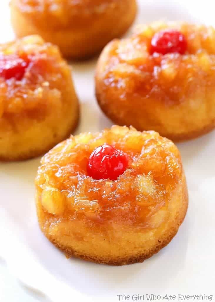 Pineapple Upside Down Cupcakes – The Girl Who Ate Everything