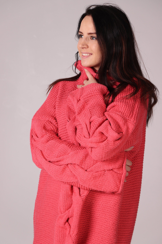 Chunky Wool Sweater | Alpaca Wool Oversized Pullover | Eco-friendly Sweater | Boho Long Sweater | Warm Loose Braided Sweater | Knitted Cape #loosebraids
