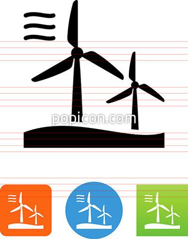 Pin By Popicon On Ecology Conservation Icons Wind Farm Icon Farm Logo