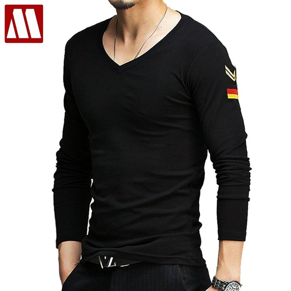 MYDBSH brand mens military t shirts summer casual long
