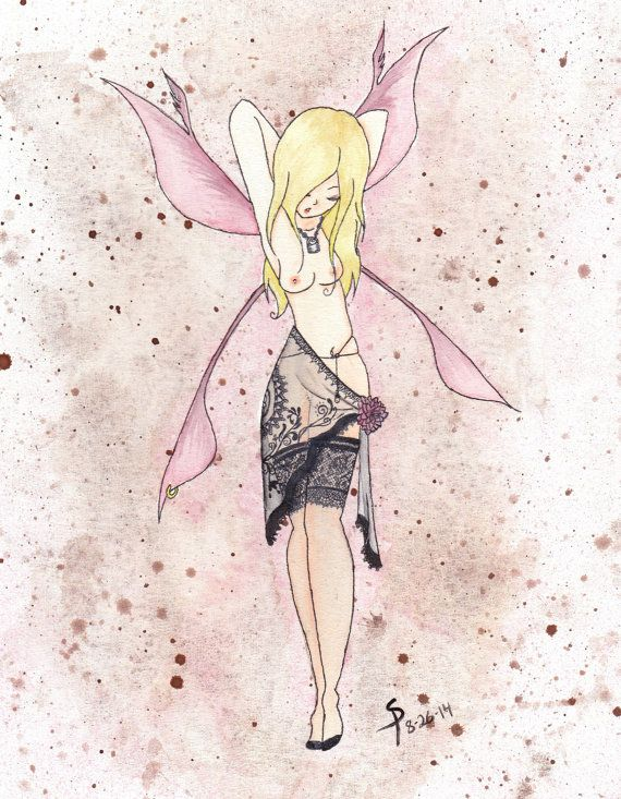 Henna Tattoo Galveston Tx: Fairy Watercolor Print 8x10 By HopelessFantasy On Etsy