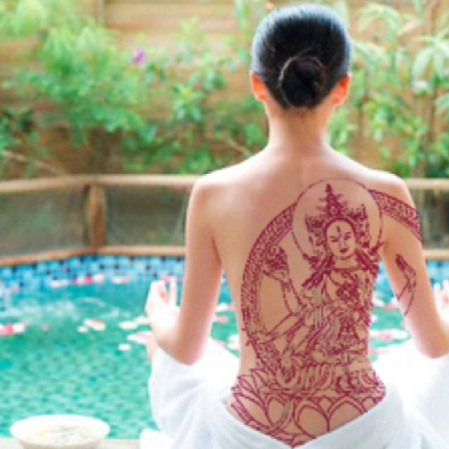 Tattoo Quotes Buddha: Buddha Tattoo.-love The Color Feminine & Beautiful Detail